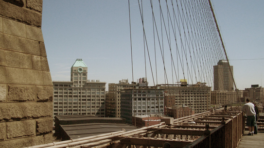 Brooklyn Bridge looking towards DUMBO