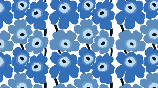"Unikko, one of the more popular patterns produced by Marimekko (""Mary's little dress"")"