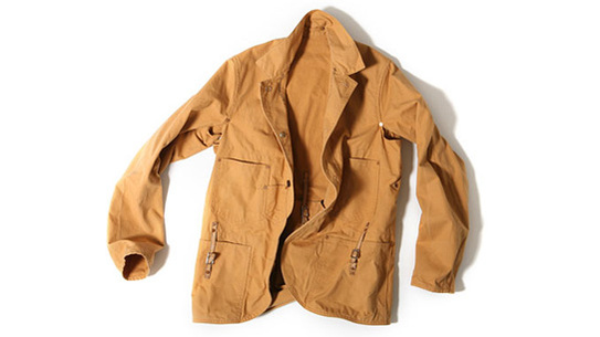 Canvas hunting jacket designed for Levi's