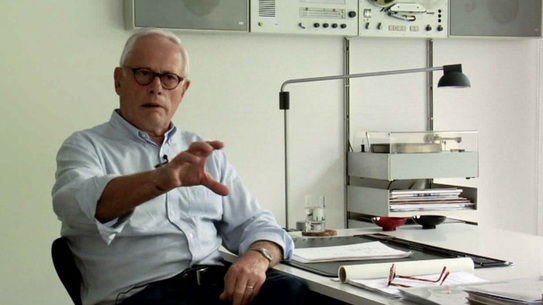 Dieter Rams at his home in Kronberg, Germany.