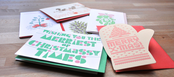 A selection of holiday cards