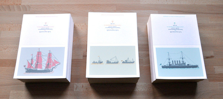 The nautical series, a part of enormouschampion's artist collection, illustrated by Erik Marinovich