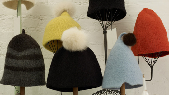 Rivka Schoenfeld's limited edition hats for M&Co.