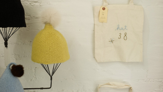 Rivka Schoenfeld's limited edition hats and totes