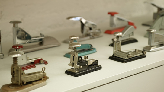 The beauty in repetition, a collection of vintage staplers