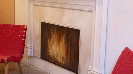 A fireplace trompe l'oeil  by Ann Wood