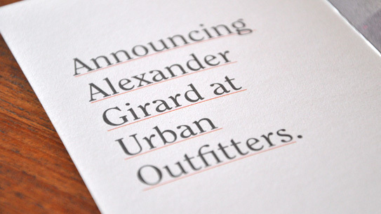 Alexander Girard and Urban Outfitters