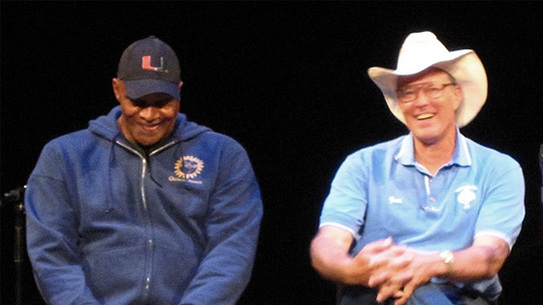 Left Will Allen (urban farmer), right Joel Salatin (sustainable farmer)