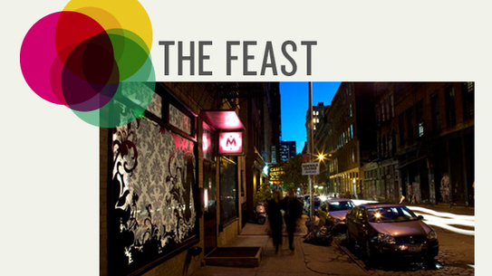 Feast Logo & exterior of Meet at the Apartment