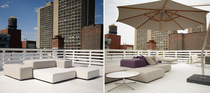 Lissoni Designed Outdoor Furniture Collection For Living Divani. Umbrella  Courtesy Of Royal Botania.