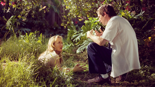 Meryl Streep with Spike Jonze on the set of <i>The Orchid Thief</i>