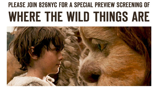 <i>Where The Wild Things Are</i> 826NYC Benefit