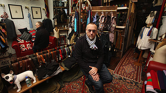 Grahame Fowler at his West Village shop
