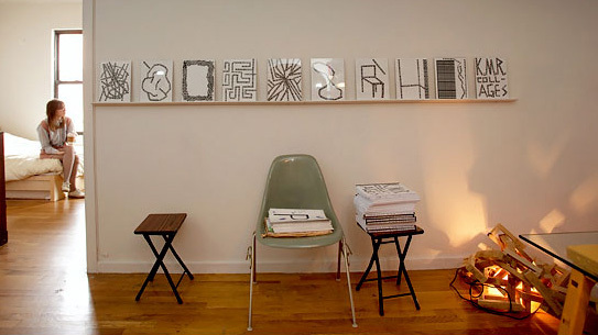Alex Gartenfeld and Piper Marshall's apartment/gallery