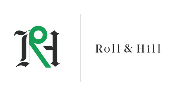 Roll & Hill's identity designed by Partners & Spade