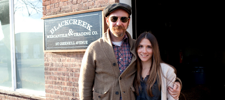 Joshua Vogel and Kelly Zaneto of Blackcreek Mercantile & Trading Co.