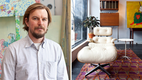 Left: Paul Bright owner of Bright Lyons Right: Eames Lounge