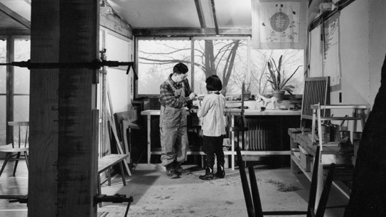 George Nakashima with daughter