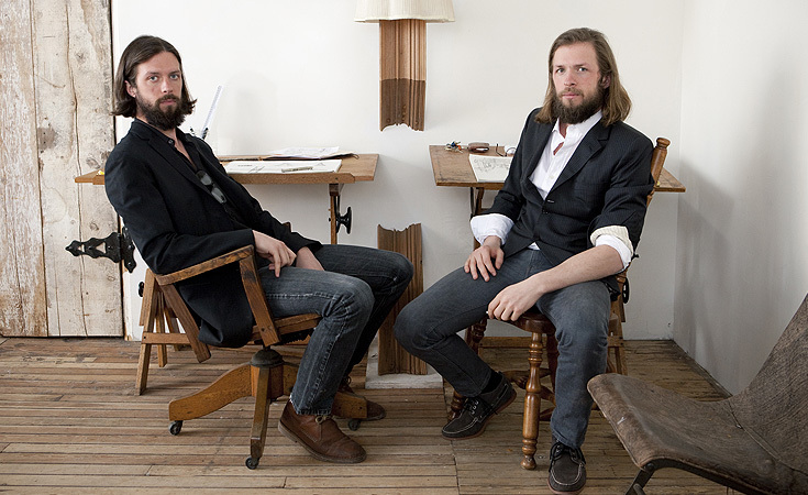 Oliver and Evan Haslegrave of hOmE in their Greenpoint studio