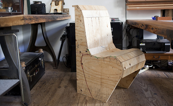 Prototype chair for Goat Town