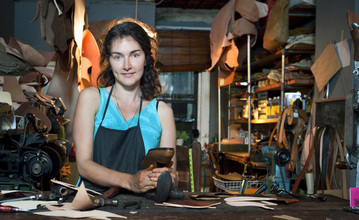 Alya Kazakevich in her shop in the Lower East Side