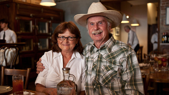 Master distiller, Chuck Miller with his wife Jeanette Miller