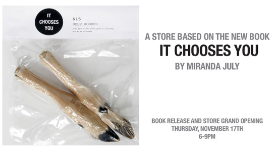 <i>It Chooses You</i> store at Partners & Spade