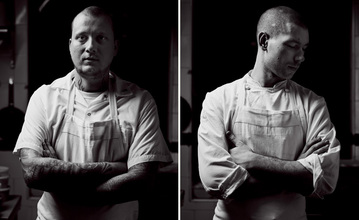 Left: Chef Walker Stern Right: Chef Joseph Ogrodnek