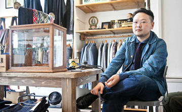 Takashi Tateno in his shop.