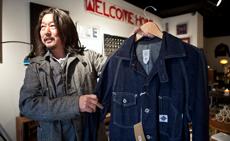 Koji Kusakabe shows a POST O'ALLS Engineers Jacket.