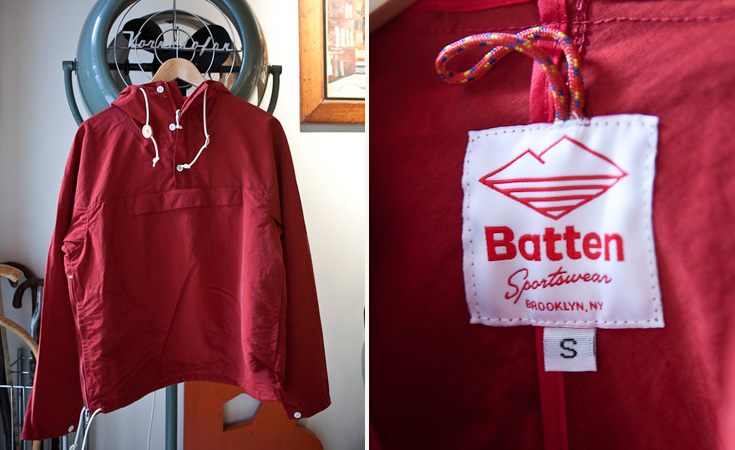Batten Sportswear's red Packable Anorak.