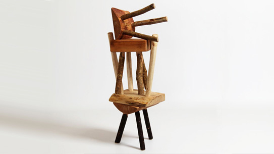 A stool made by Makers and Brothers.