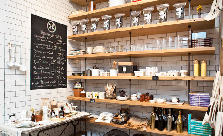 The shop also carries Roost glassware, Roost Berry Baskets, Kobo candles, Fog Linen trays, and books from chefs/authors like Tamar Adler, Seamus Mullen, and Beatrice Peltre.