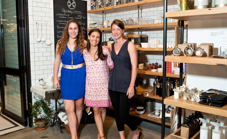 Left to Right: Lela Ilyinsky Director of Marketing, Alison Schneider, and chef Julia Sullivan at Haven's Kitchen.