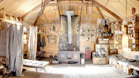 Ernest Shackleton's perfectly preserved hut. Fodder for interior designers.
