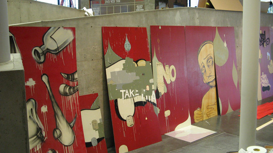 A behind the sceens look at the upcoming Barry McGee retrospective at BAM/PFA.