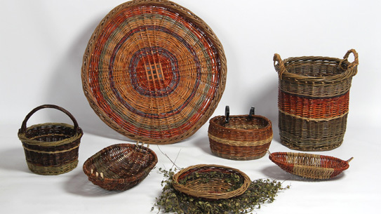 Katheen McCormick Irish willow baskets.