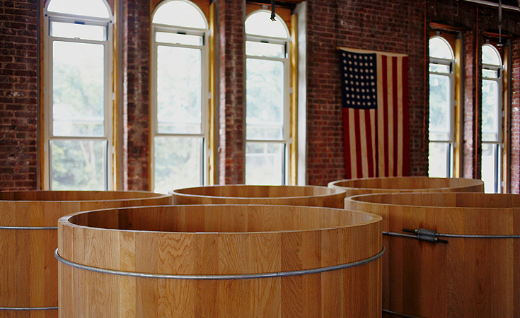 With the additional space, the distillery is planning to increase production. These oak tubs will replace the smaller drums.