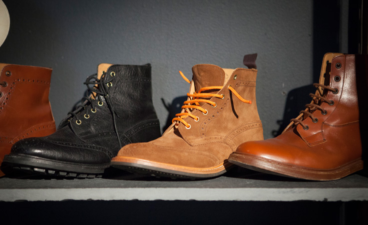 Boots from Tricker's, featured in the Fall 2012 Presentation.