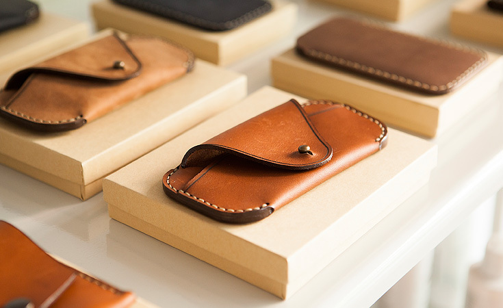 Makr Carry Goods eyewear sleeves and wallets.