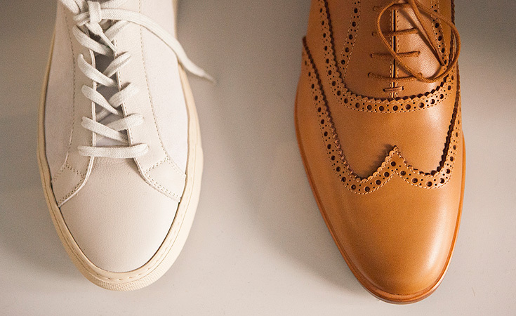 A Vintage Low and Wing Tip shoe by Common Projects.
