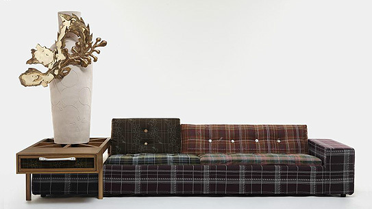 A Hella Jongerius Polder sofa specially designed for Moss.