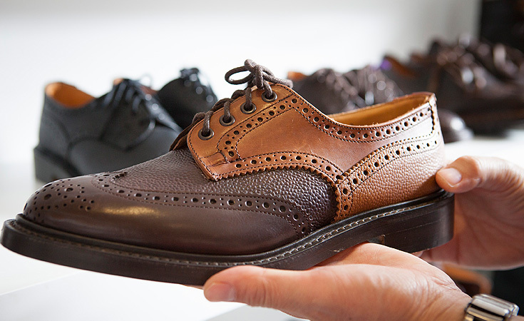 The Multi-Combo Derby Brogue, a collaboration with Tricker's and Nepenthes.