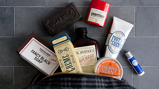 The Nomad set is a collection of toiletries made for the man on the go.