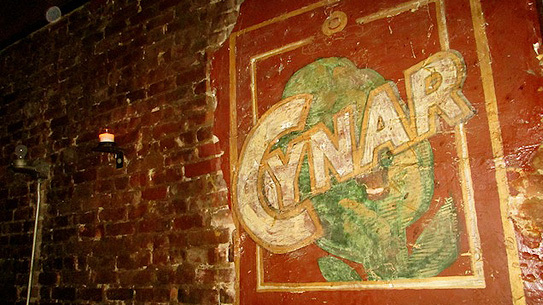 An old Cynar mural inside Milk & Honey which will become Attaboy at the end of the month.