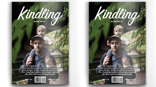 Chris Cole on the cover of Kindling Quarterly.