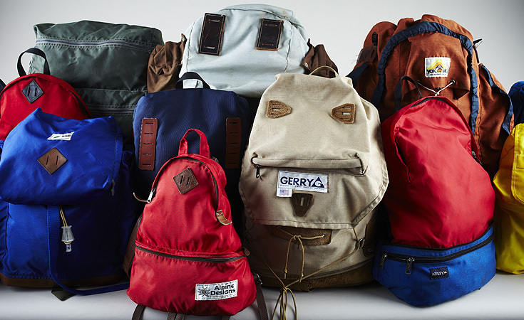 A sampling of Jordan Viray's vintage backpack collection that has grown to over 80 packs in the past two and a half years.