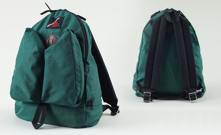 Jordan Viray's collection is not limited to outdoor manufacturers. This is an example of one of them, a Cannondale backpack from the 1970s.