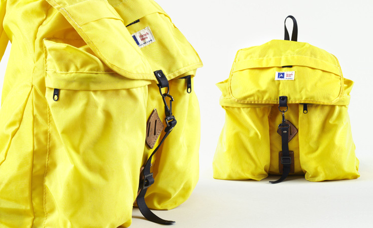 Though Hirsch Weis was founded in Portland, OR, this nylon backpack from the 1970s was made in Japan.