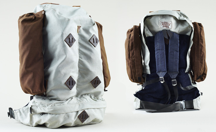 The Jensen Pack from Rivendell Mountain Works with additional compartments on the side. This design is still being made today to the same specification. This is an original from the 1970s.